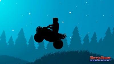 4 wheeler at night