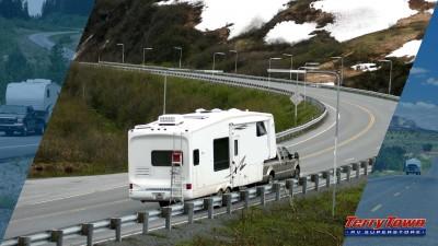 trucks pulling RVs