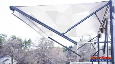 RV awning  geometric shapes