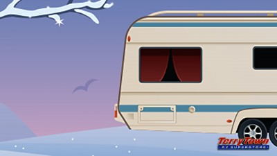 RV in wintertime