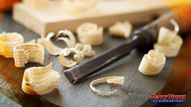 Wood shavings from Whittling