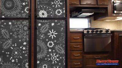 chalk board paint your fridge