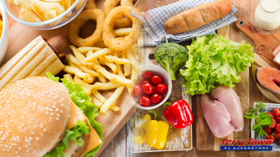 healthy unhealthy foods while traveling