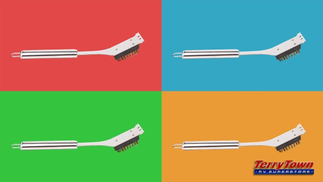 grill cleaning brush vector