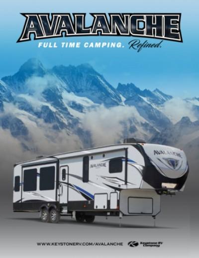 2017 Keystone Avalanche RV Brand Brochure Cover