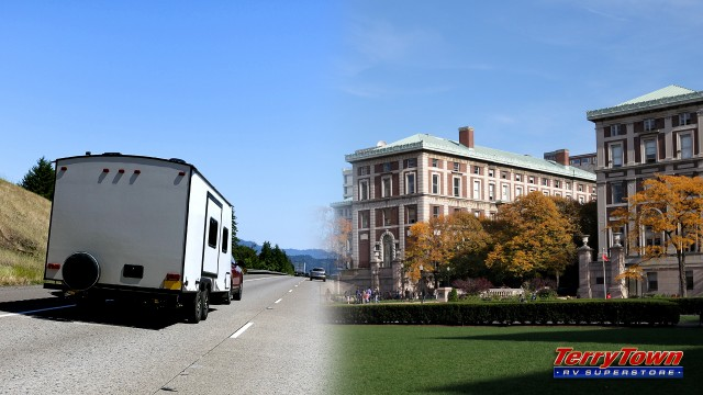 RVing to college campus visits