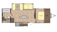 2019 Sunset Trail Grand Reserve 26SI Floor Plan