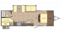 2018 Sunset Trail Super Lite 264BH Floor Plan