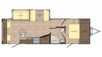 2019 Sunset Trail Super Lite 271RL Floor Plan