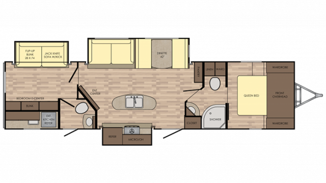 2019 Sunset Trail Super Lite 331BH Floor Plan