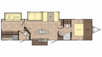 2018 Sunset Trail Super Lite 331BH Floor Plan