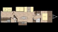 2019 Sunset Trail Super Lite 331BH Floor Plan