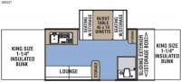 2017 Clipper 1285SST Floor Plan