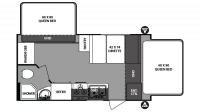2018 Surveyor 191T Floor Plan