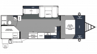 2018 Surveyor 287BHSS Floor Plan