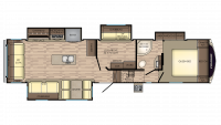 2019 Cruiser 347MD Floor Plan