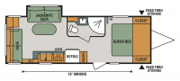 2017 Connect 231RL Floor Plan