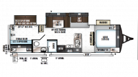 2019 Rockwood Ultra Lite 2909WS Floor Plan
