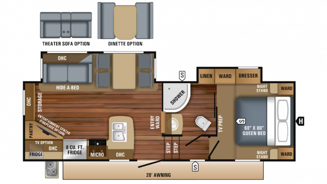 2018 Eagle HT 25.5REOK Floor Plan