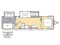 2014 Catalina 323BHDS Floor Plan