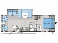2014 Jay Flight 26RLS Floor Plan