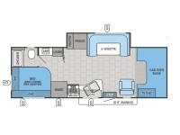 2014 Redhawk 26XS Floor Plan
