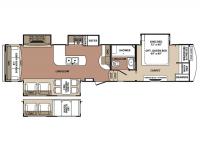 2015 Blue Ridge 3600RS Floor Plan