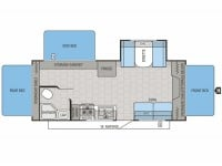 2015 Jay Feather Ultra Lite X23F Floor Plan