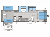 2015 Jay Flight 32TSBH Floor Plan