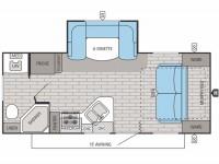 2015 White Hawk Ultra Lite 20MRB Floor Plan