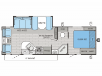 2015 White Hawk Ultra Lite 27DSRL Floor Plan