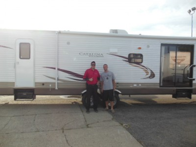 Justin of Leslie with their Catalina Destination 38BH