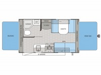 2014 Jay Feather Ultra Lite X17Z Floor Plan