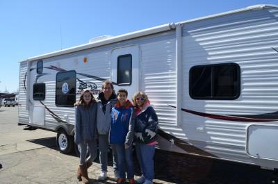 Dave Borso & family of Byron, MI with their Jay Flight 28BHS