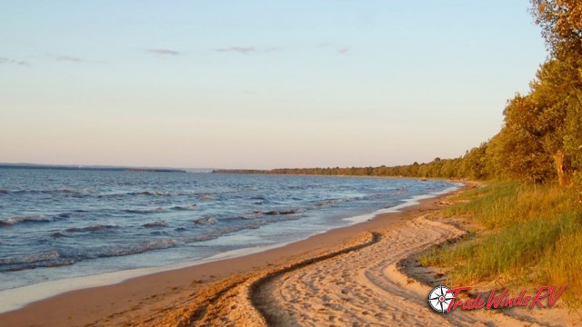 Brimley State Park Beach View Feature