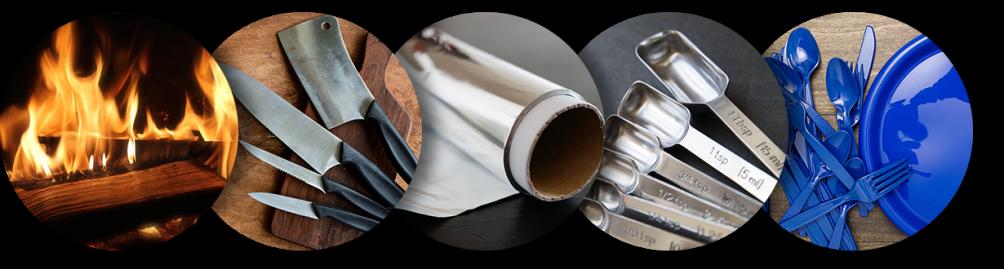 Fire Knives Aluminum Foil Measure Spoons Plastic