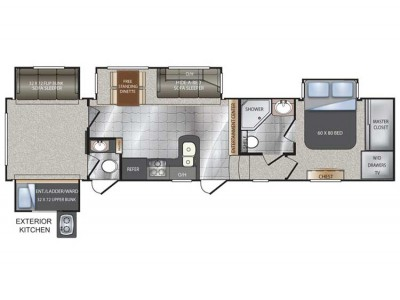 Avalanche 341tg Floor Plan 2013