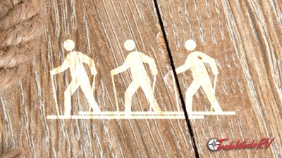 Illustrated People Playing A Game Called Boardwalk