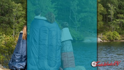 Family Wrapped Up In Sleeping Bags While Camping