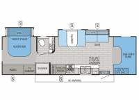 2015 Greyhawk 29MV Floor Plan