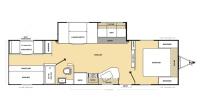 2016 Catalina SBX 291QBS Floor Plan