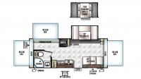 2017 Flagstaff Shamrock 233S Floor Plan