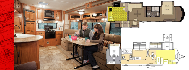 RV couple kitchen floor plans NEW