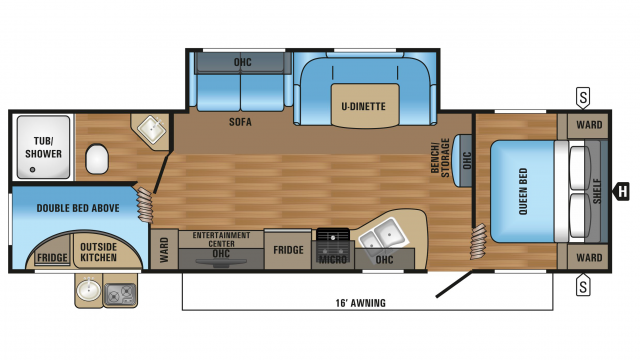 2017 Jay Flight SLX 284bhsw Floor Plan