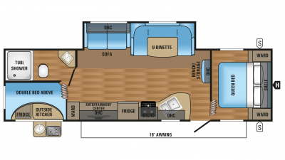 2017 Jay Flight SLX 284bhsw Floor Plan
