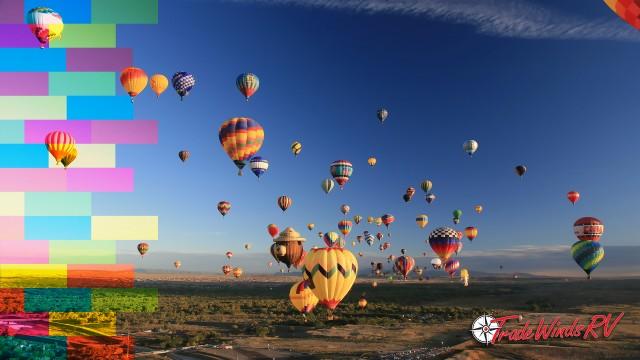 Balloons At Albuquerque International Balloon Fiesta