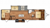 2017 Wildcat 322TBI Floor Plan