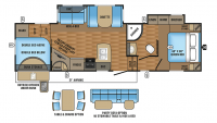 2017 Eagle HT 29.5BHDS Floor Plan