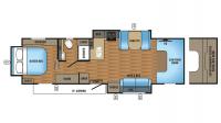 2017 Greyhawk 29ME Floor Plan