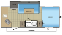 2017 Hummingbird 17RK Floor Plan